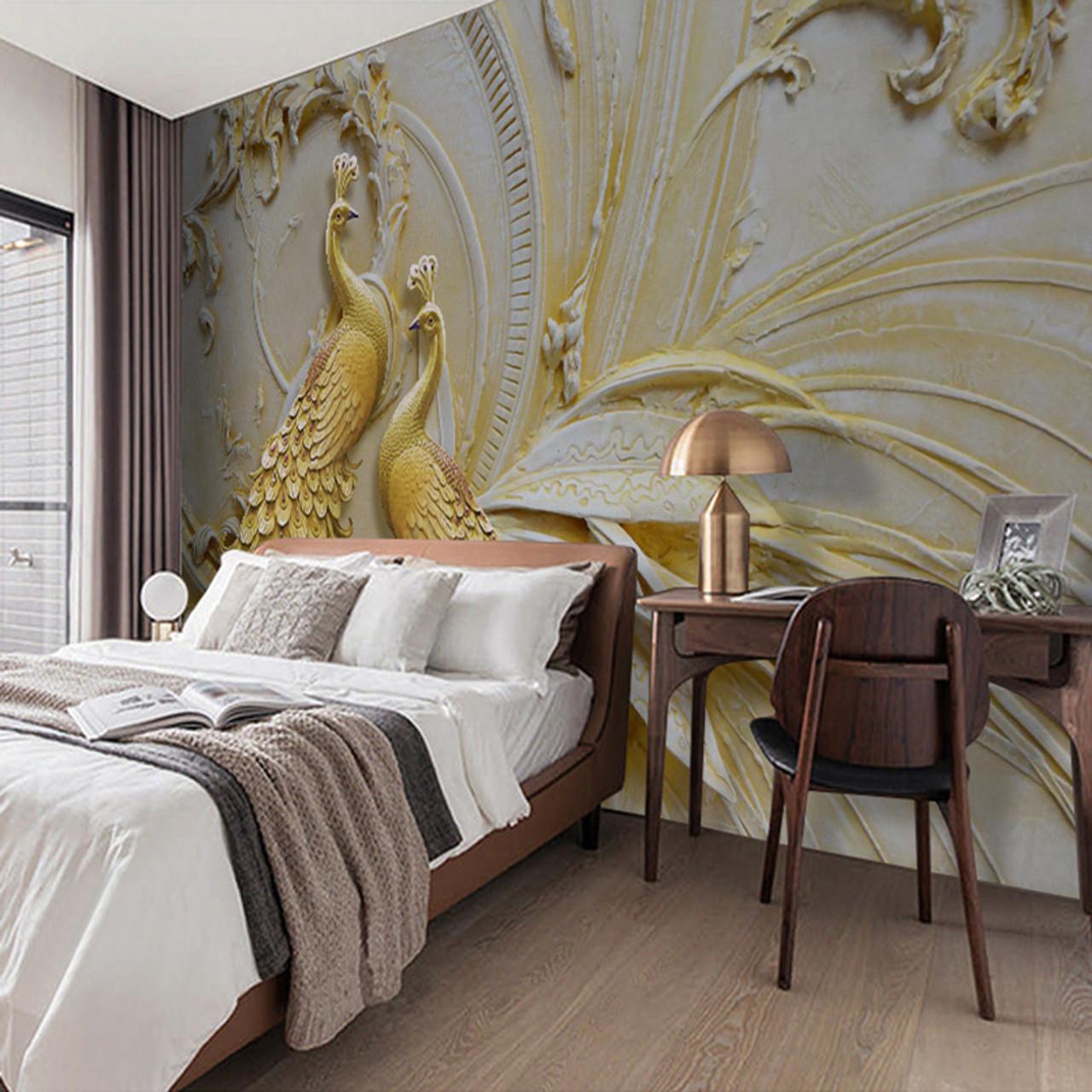 Custom Mural Wallpaper For Walls 3D Stereoscopic Embossed ...
