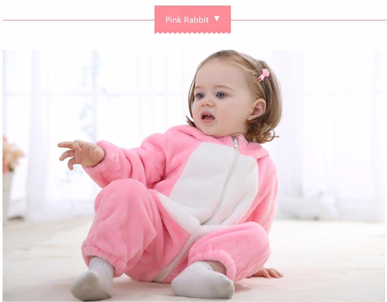 496a60160 Animal Baby Romper Boy Girl Hello Kitty Cartoon Jumpsuit Pajamas ...