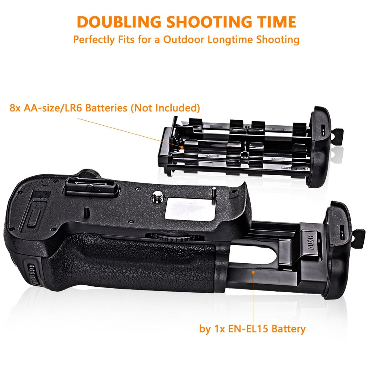 PIXEL MB-D12 Battery Grip for Nikon DSLR Digital Cameras D800 D800E D810 Replacement Nikon MB-D12