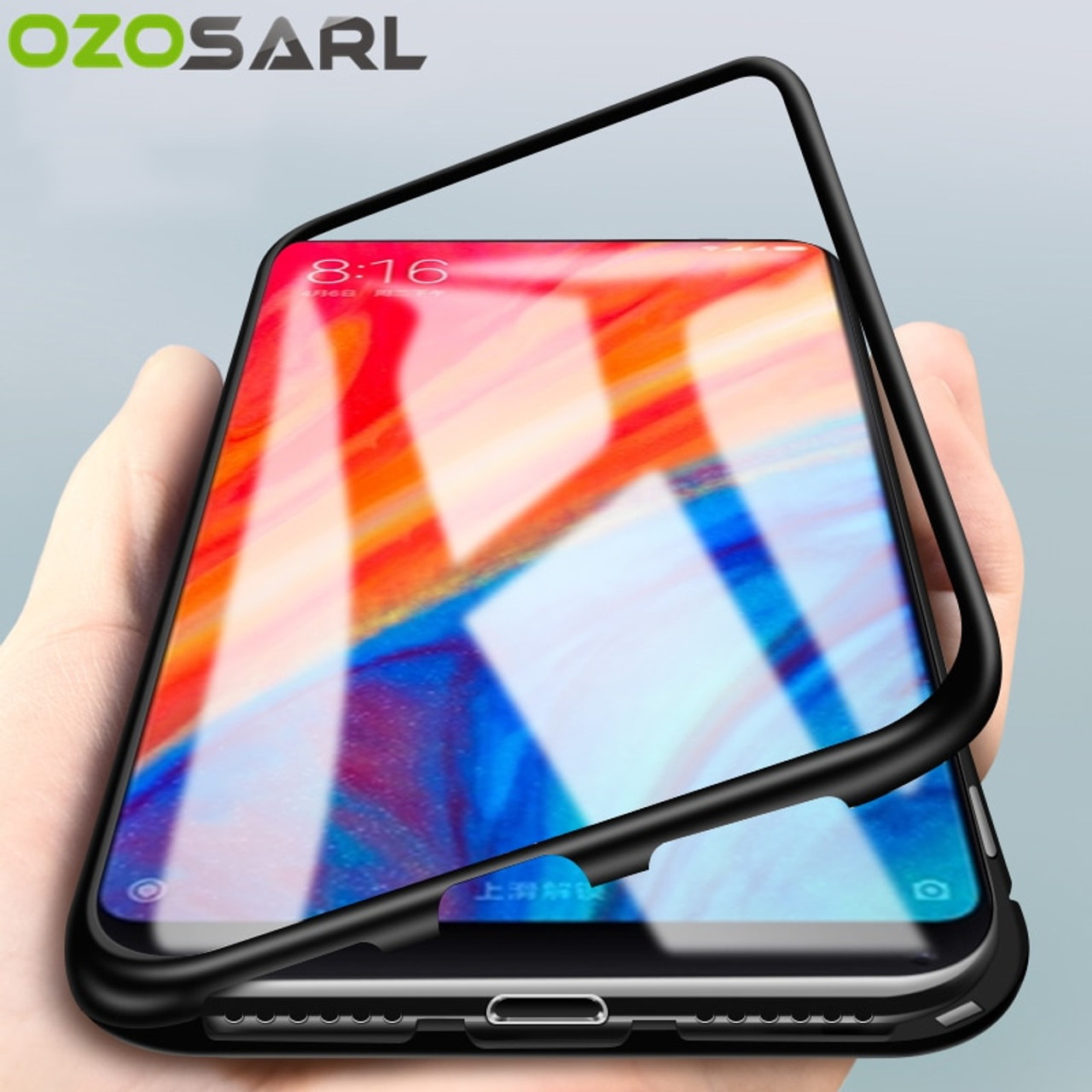 online store 52cab 0405a 360 Magnetic Adsorption Case for Xiaomi Mi 8 Case Mi 8 SE Full Cover Luxury  Magnet Tempered Glass Case for Xiaomi Mi 8 SE Case