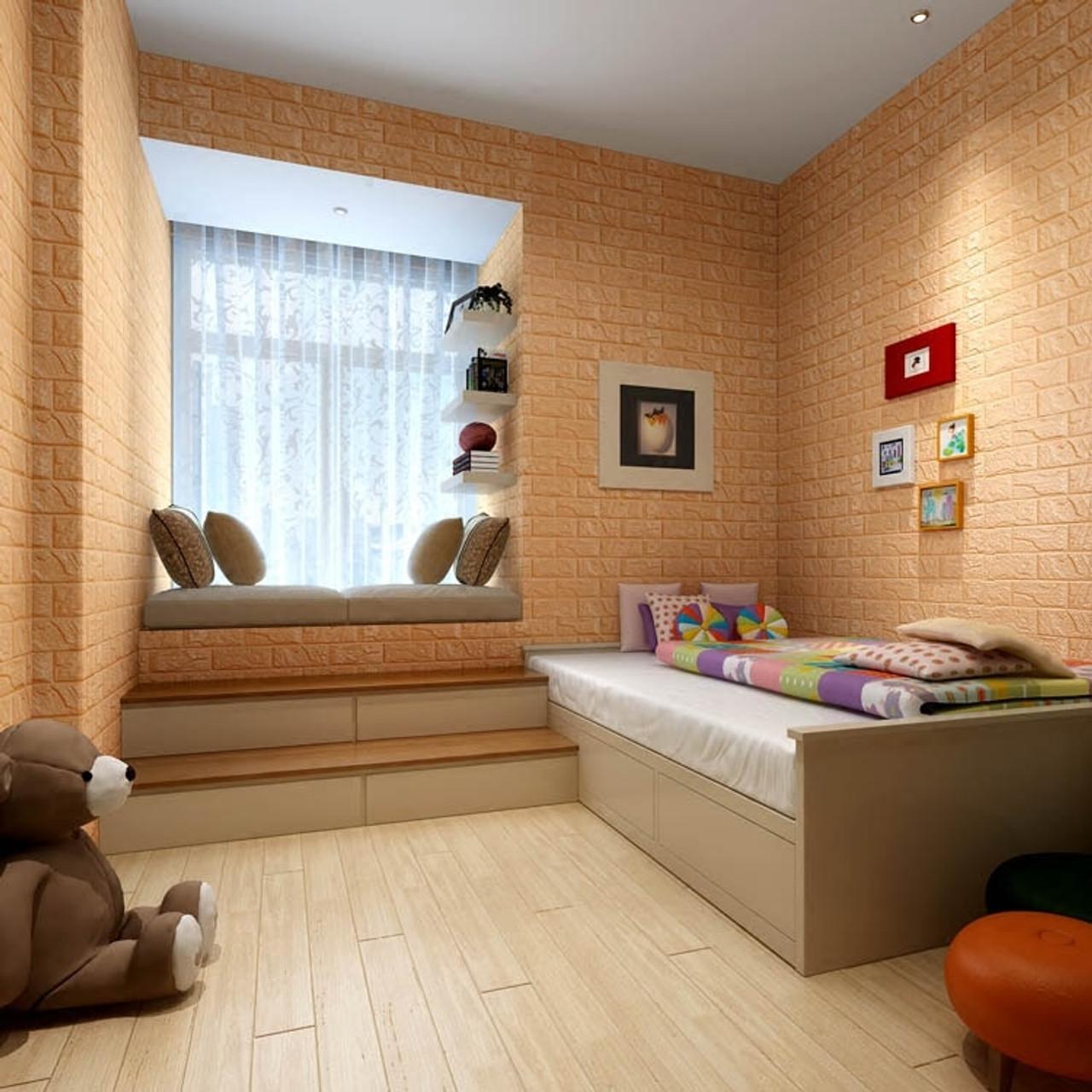 ... 3D Wall Panel Stickers Living Room 3D Brick Wallpaper For Kids Room  Bedroom Home Decor 3D ...