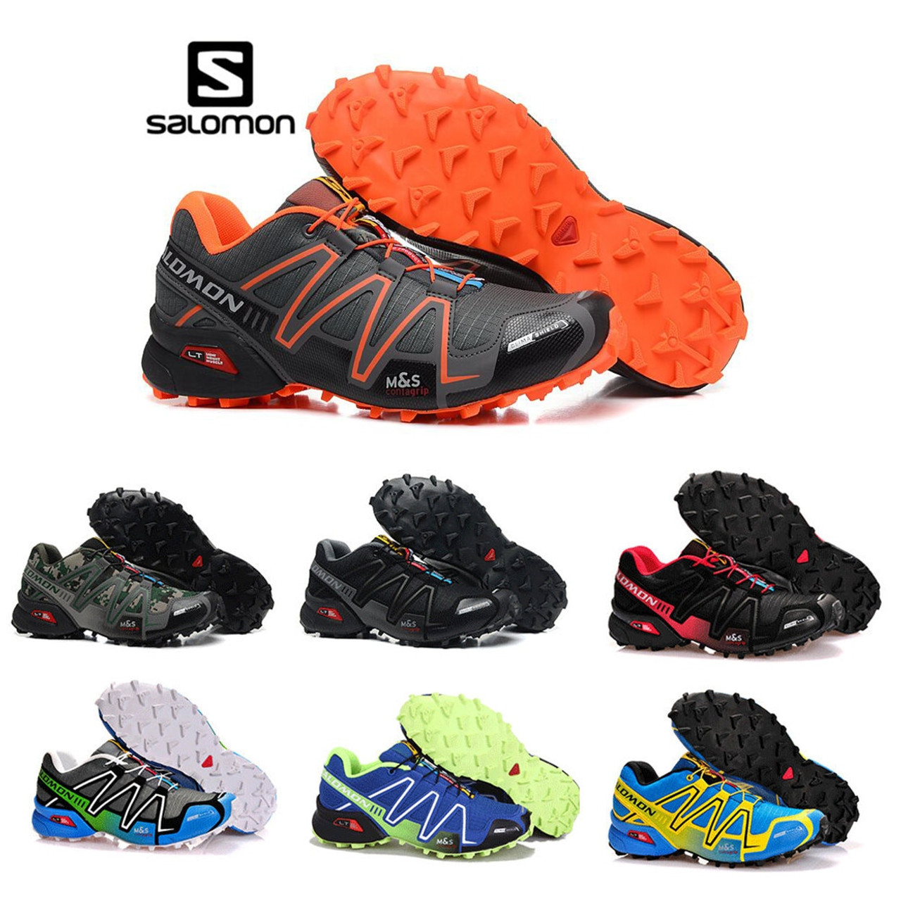 c13c5ca42646 Salomon Speed Cross 3 CS cross-country running shoes Brand Sneakers Male  Athletic Sport Shoes ...