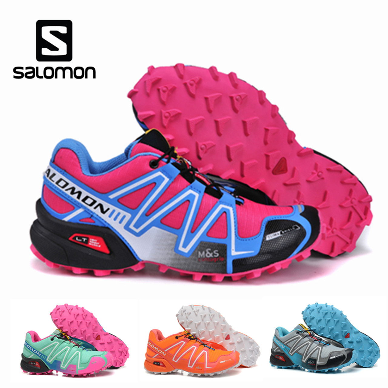 Salomon Mujer 3 Fencing Shoes Solomon Speedcross Female Hombre Cross Speed Athletic Running Outdoor Women Sport Zapatillas POk80nwX