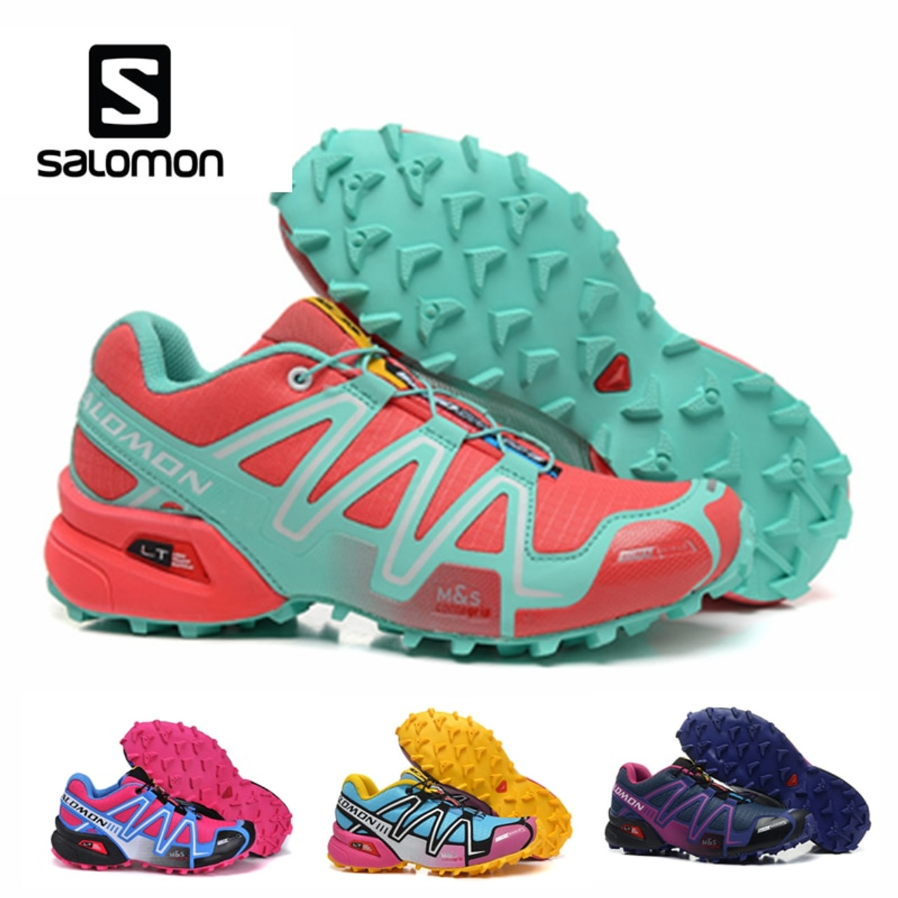 on sale fbd5c e1e00 Salomon Speedcross 3 CS Outdoor Sports Woman Shoes Breathable Athletics  Solomon Female Running Speed cross Fencing Shoes