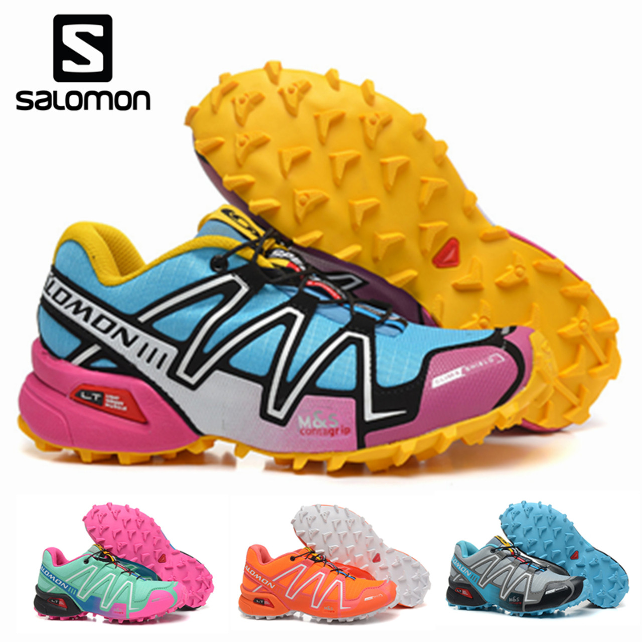 Salomon Speedcross 3 III Women s Shoes High Quality Solomon Breathable  Speed Cross Sneakers Female Outdoor Sports Fencing Shoes - OnshopDeals.Com deab313d1fbb