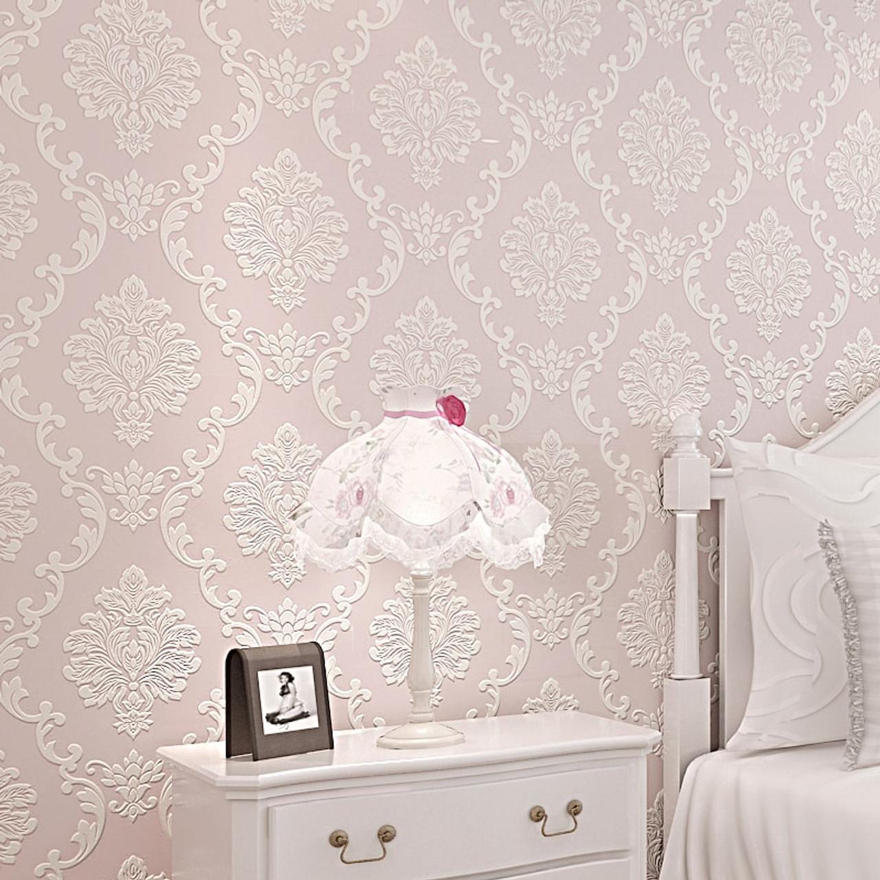European Style 3d Embossed Floral Luxury Damask Wallpaper For Living Room Bedroom Tv Background Desktop Wallpaper Roll For Walls