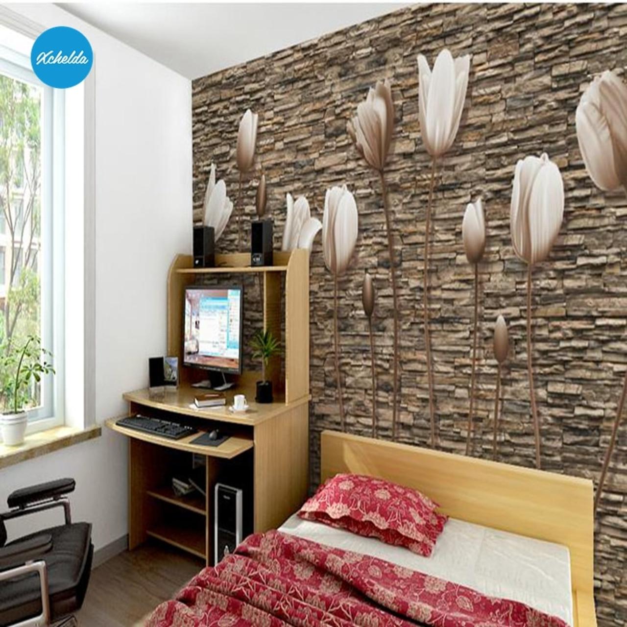 Xchelda Custom 3d Wallpaper Design Retro Stereo Buds Photo Kitchen