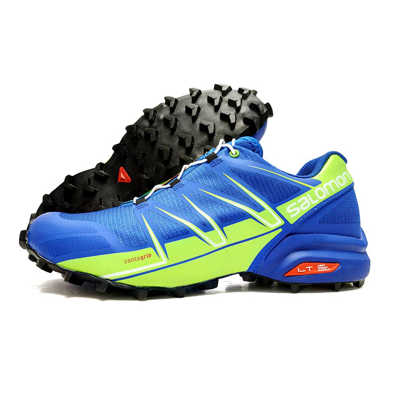 brand new 40d6a 0b33b Salomon Shoes zapatos hombre Speed Cross 3 5 CS Sneakers Men Sport shoes  Blue Green Male Athletics Jogging Shoes Fencing Shoes