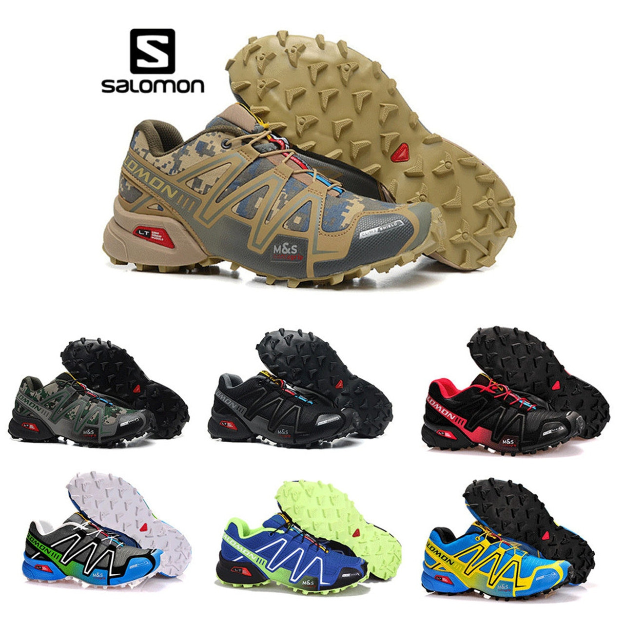 bas prix ed812 b50a9 Salomon Speed Cross 3 CS cross running shoes Brand Sneakers Male Athletic  Sport Shoes SPEED Fencing Shoes