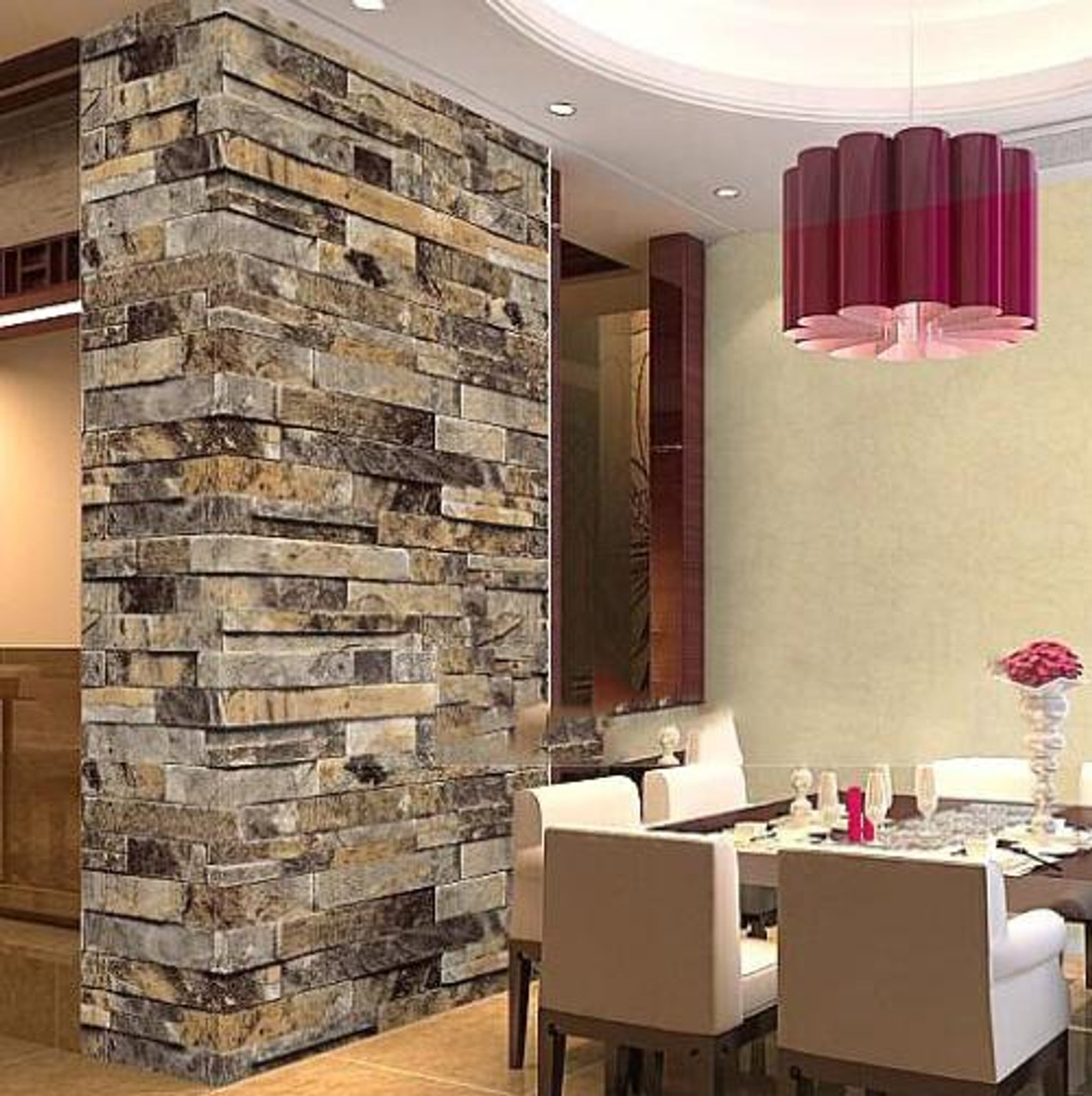 Stone Brick 3D Wallpaper Bedroom Living Room Background Wall Vinyl Retro Wall Paper Roll Rustic