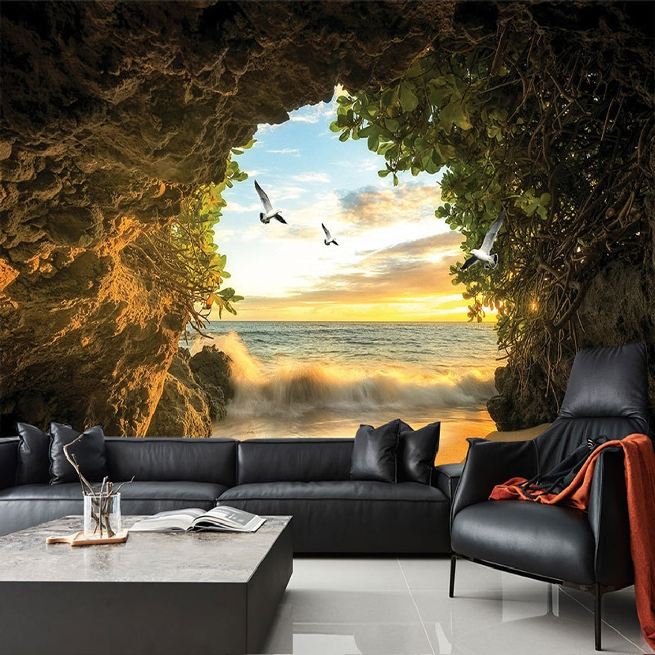 Custom 3d Photo Wallpaper Cave Nature Landscape Tv Background Wall Mural Wallpaper For Living Room Bedroom Backdrop Art Decor