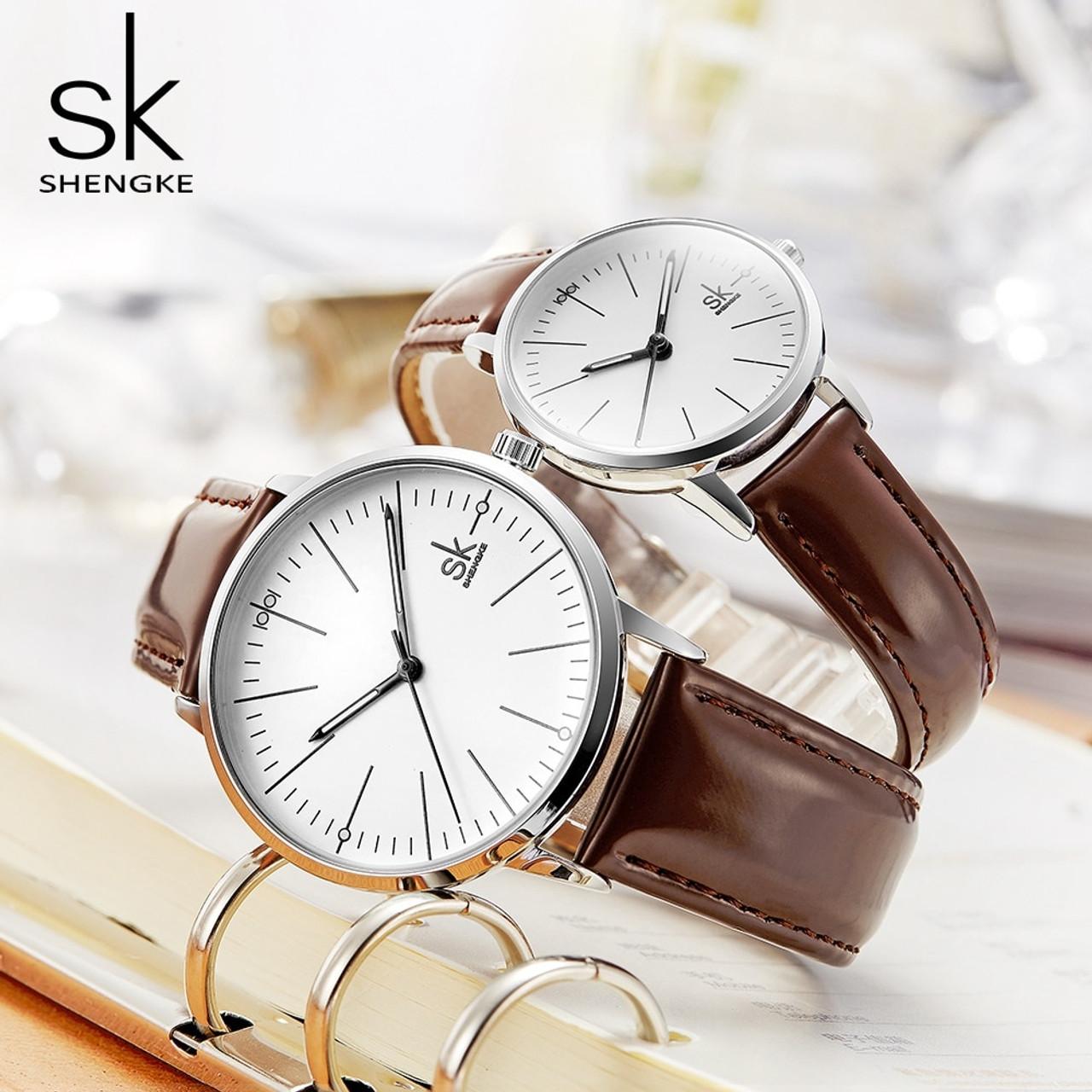 3c14a5df7246 SK New Couple Watch Men Women Watches Simple Quartz Reloj High Quality  Relogio Masculino Business Clock ...