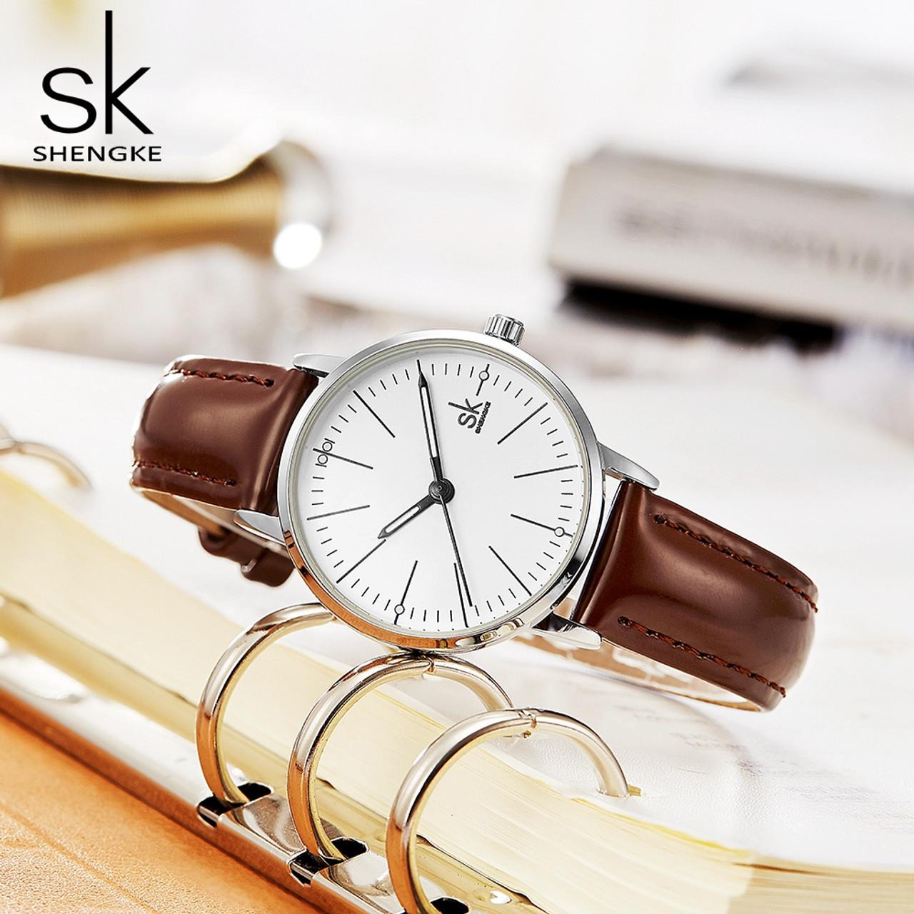 0ade4006d158 ... SK New Couple Watch Men Women Watches Simple Quartz Reloj High Quality  Relogio Masculino Business Clock ...