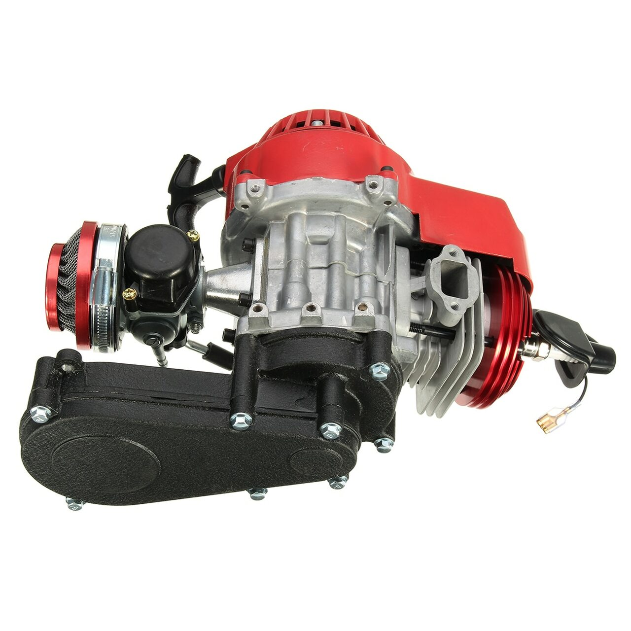 2 Stroke Engine Motor w/ Transmission CarburetorAir Filter Gear Box 49CC  Mini Dirt Bike ATV Quad Blue Yellow Black Red Sliver
