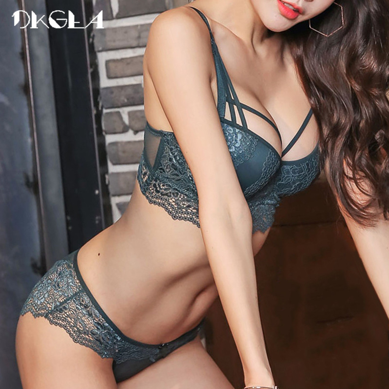 c3e63b9dcf New Top Sexy Underwear Set Cotton Push-up Bra and Panty Sets 3 4 Cup ...
