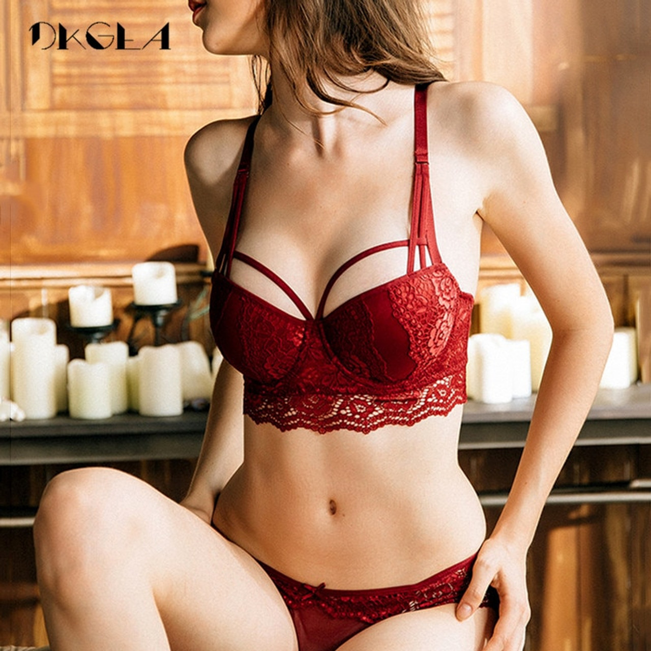 1673f2fa28 New Top Sexy Underwear Set Cotton Push-up Bra and Panty Sets 3 4 Cup ...