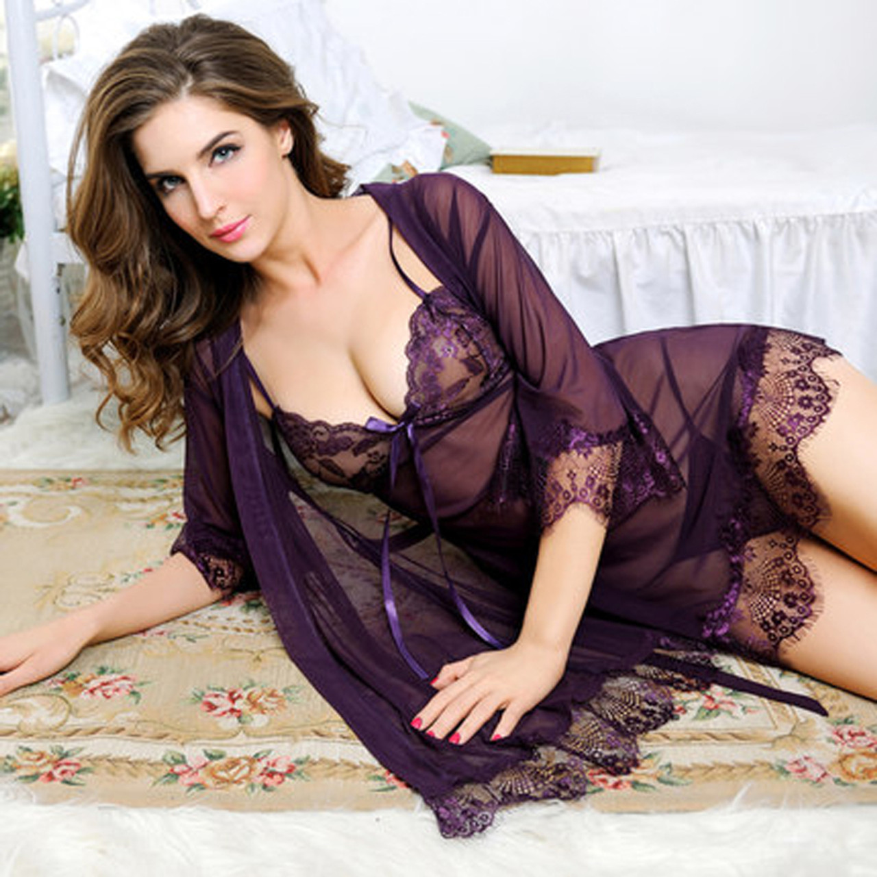 212a9a08df4 Newest Sexy Lingerie For Women Sexy underwear Ladies Lace Transparent Erotic  Lingerie Conjoined Dress Suit Free ...