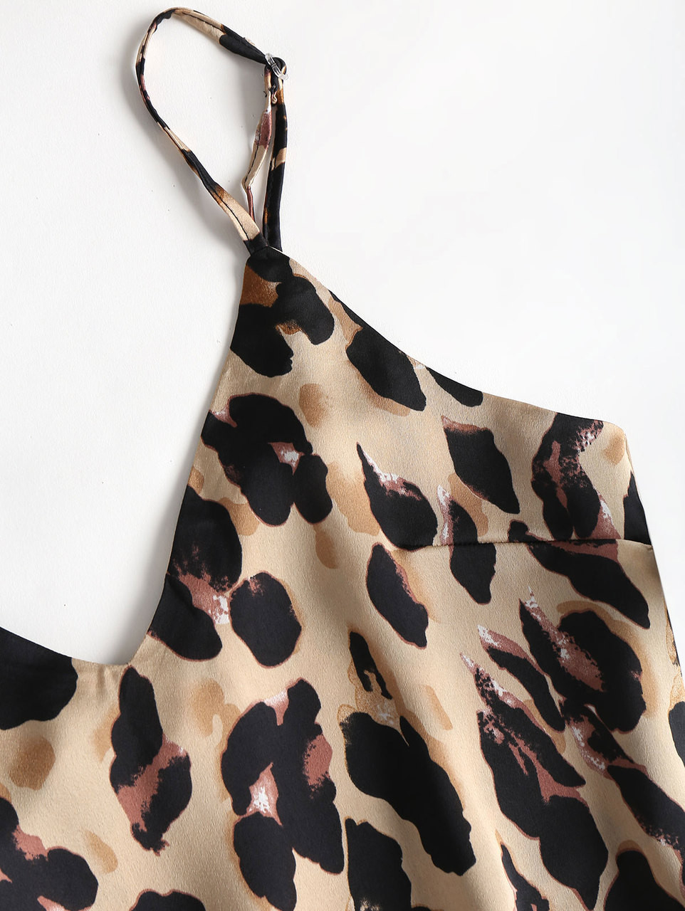 be1b181bc0 ... Wipalo Sexy Summer Pajamas Sleepwear Women Sleeveless Spaghetti Strap  Nightwear Leopard Print Satin Cami Top Shorts ...
