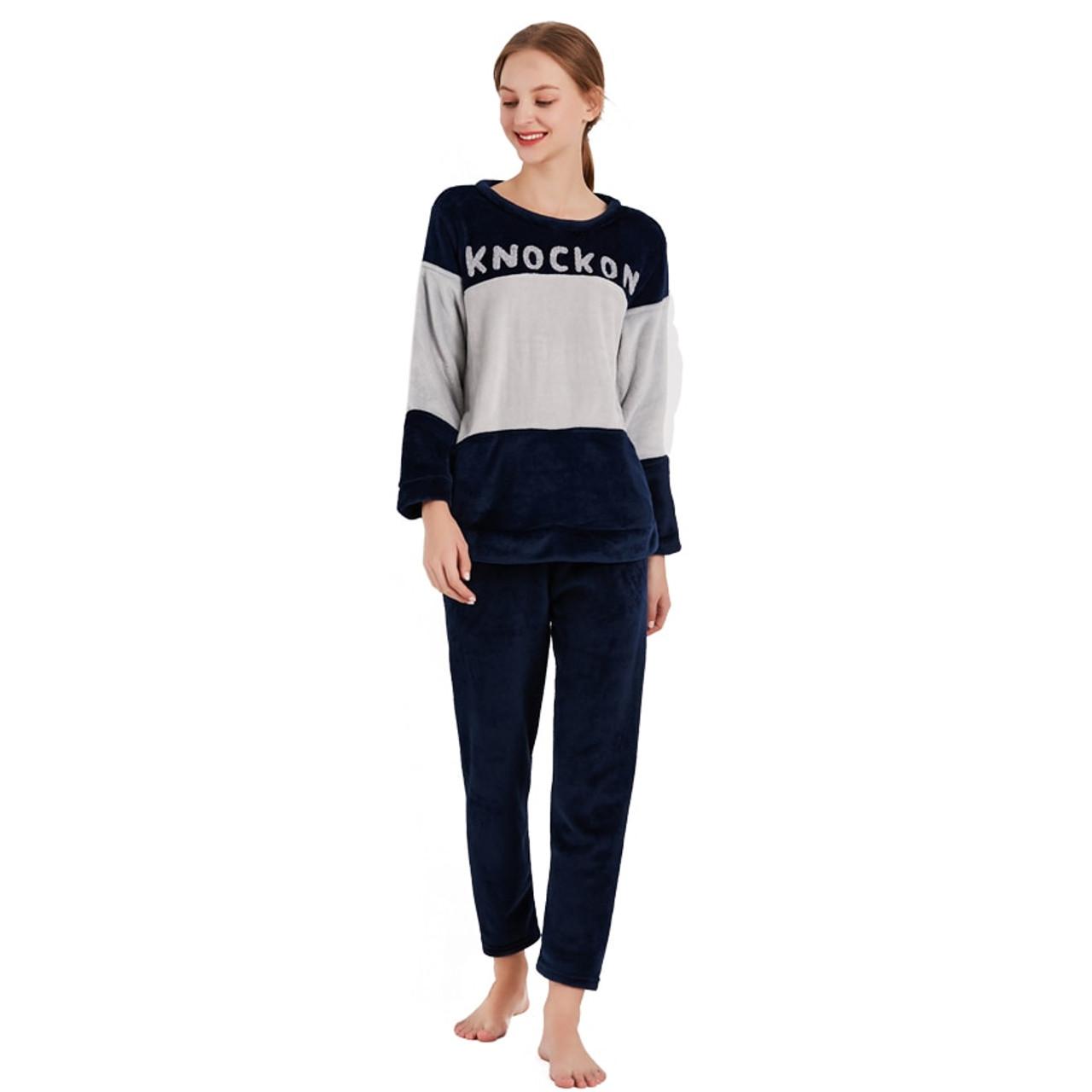 90719d2f9e ... Thick Warm Flannel Pajamas Sets Winter Women Two Piece Pajama Set  Cartoon Female Sleepwear Home Clothing ...