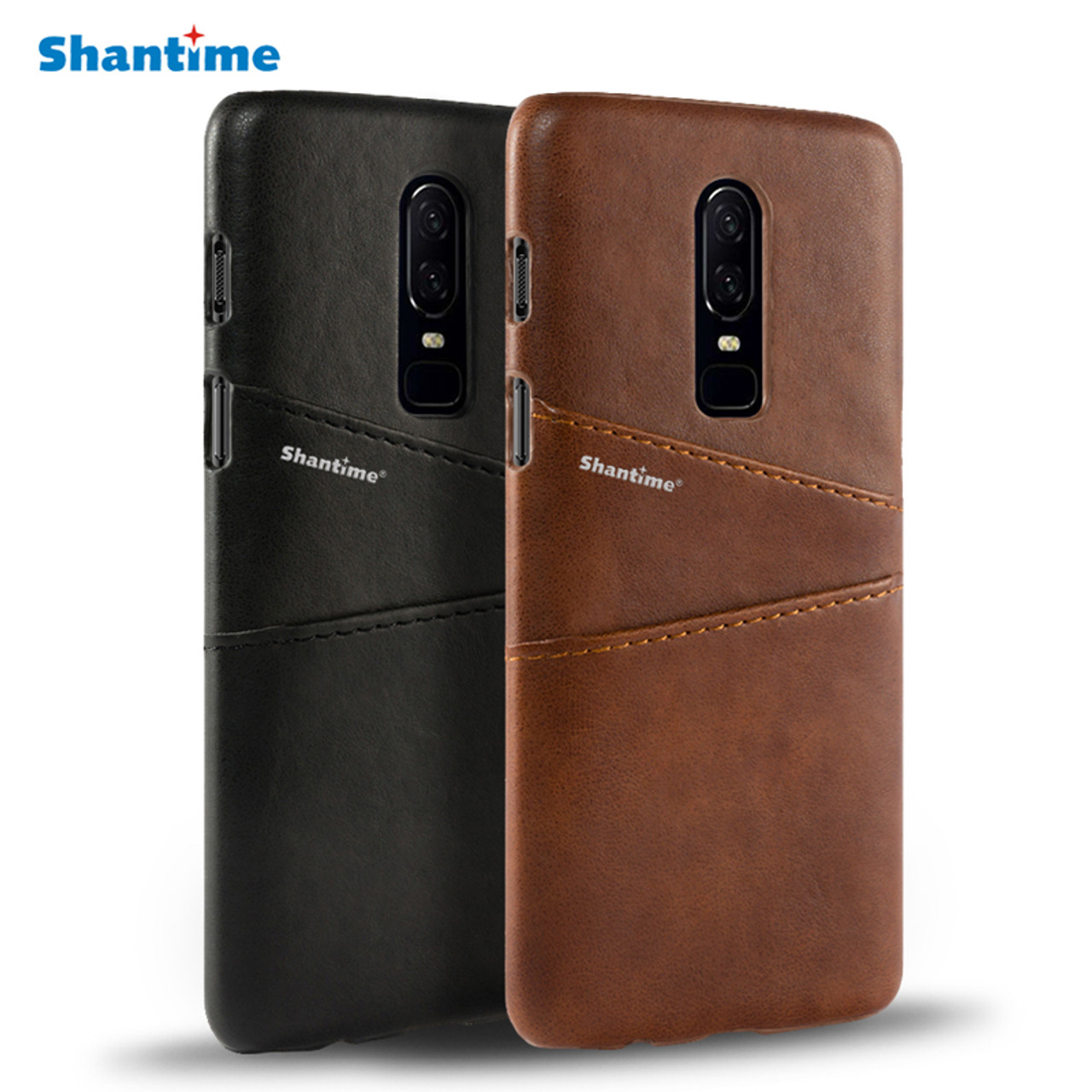low priced 27fd9 9996e Pu Leather Back Cover For Oneplus 6 Wallet Case For Oneplus 2 Business Case  For Oneplus 6T Card Slots Phone Bag Case