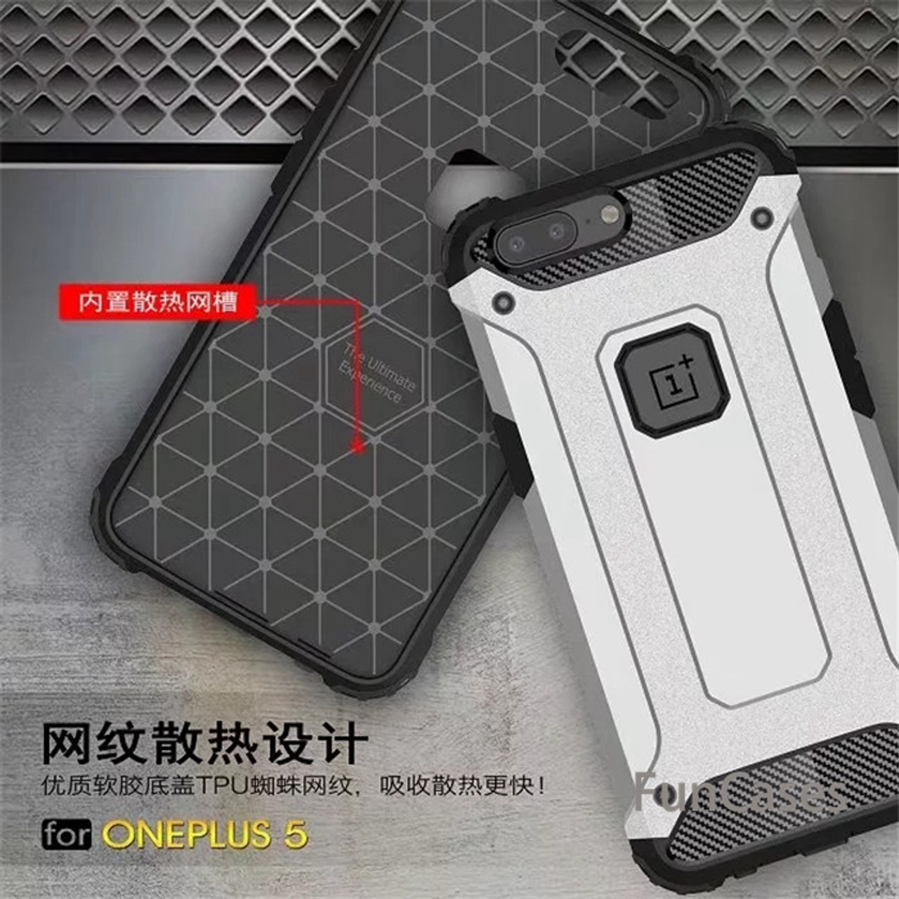 uk availability 0ad85 23189 For Oneplus 5 / One plus 5T case Hybrid Slim Rubber Armor case back cover  For Oneplus 6 shockproof TPU plastic covers cases