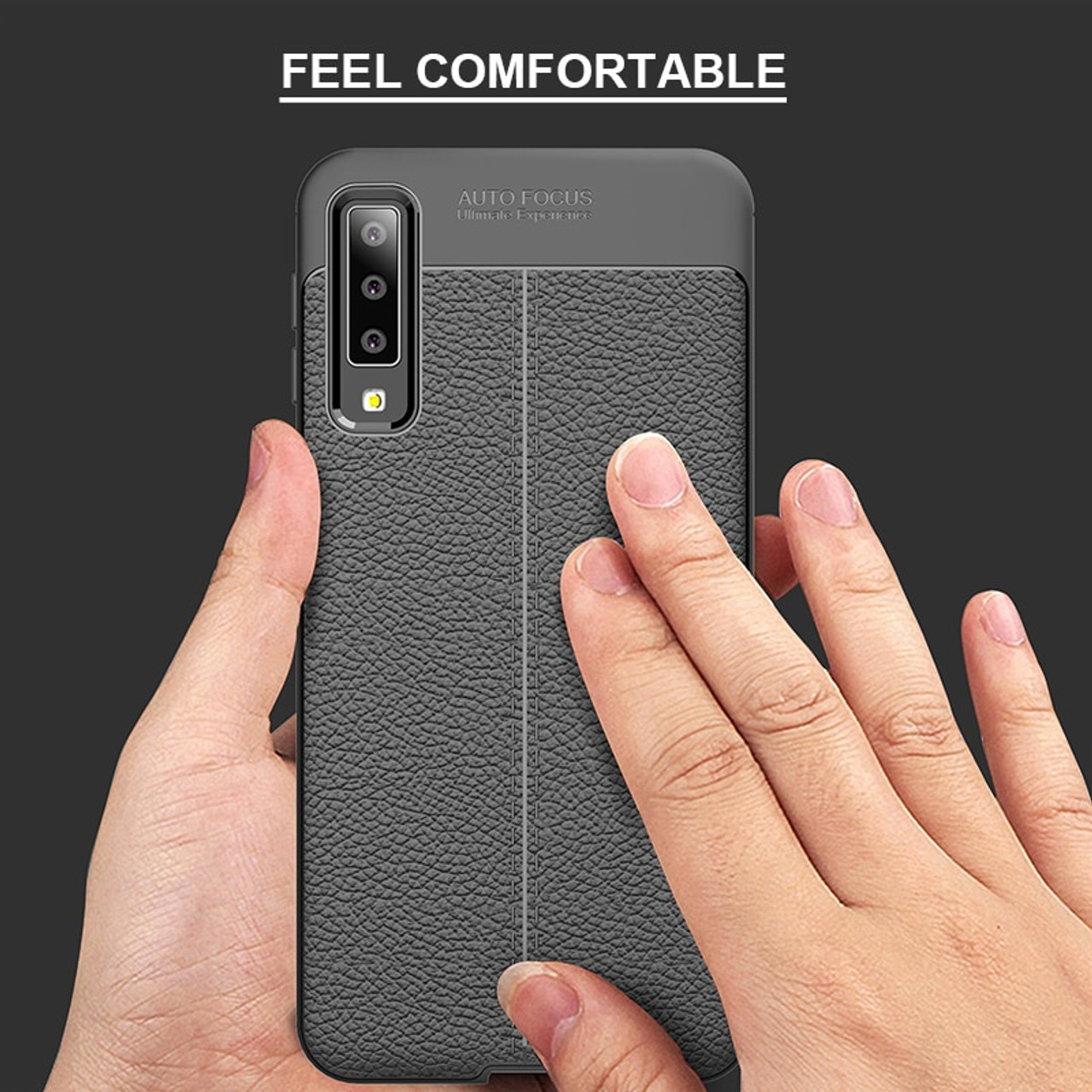 hot sale online 89193 4fe50 Phone Cases for Samsung Galaxy A7 2018 A750 Soft Carbon Fiber Leather TPU  Cover Case for Samsung A7 2018 Shockproof Armor Case