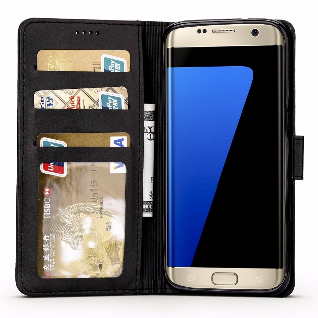 906ef7c41d9 For Coque Samsung Galaxy S7 Edge Case Cover Samsung S7 Leather Wallet Flip Case  For Samsung ...