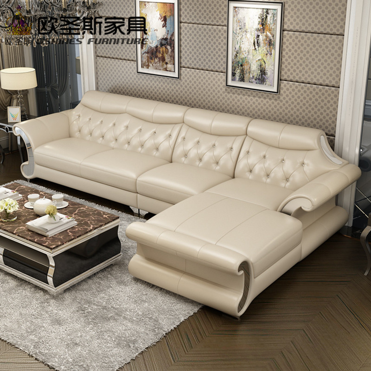 Beautiful Post Modern Bright Colored Sleeper Couch Living