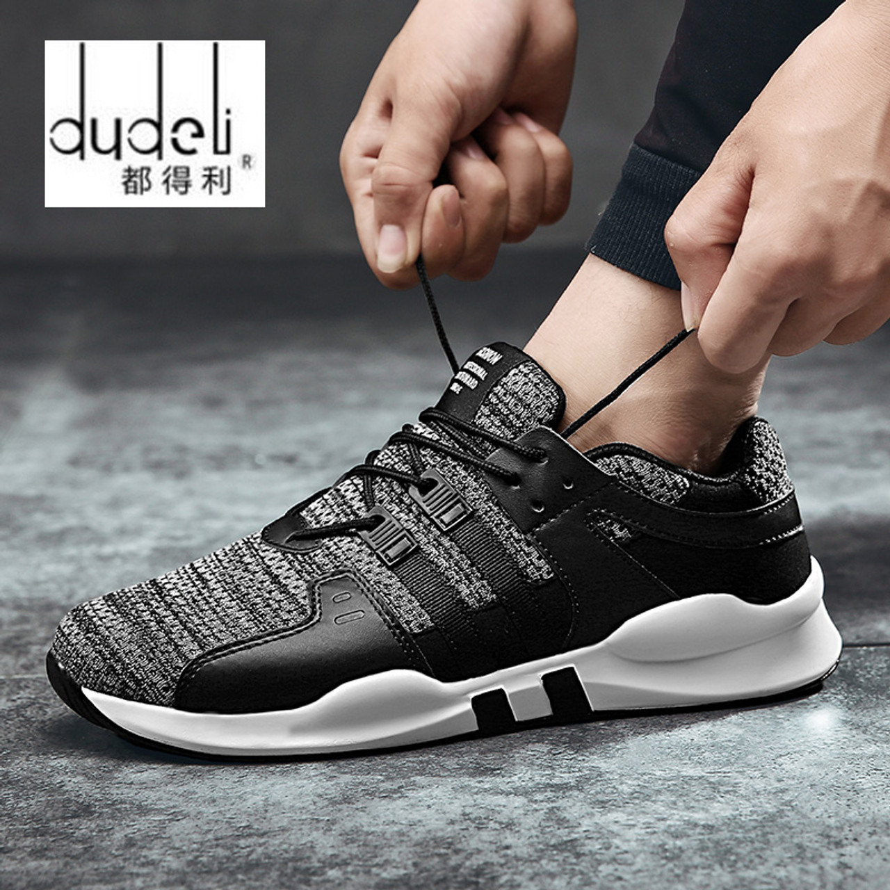 97bfcfba82559a DUDELI men fashion breathable casual shoes spring young Cheap high quality  Comfortable light sneakers Chaussures pour ...