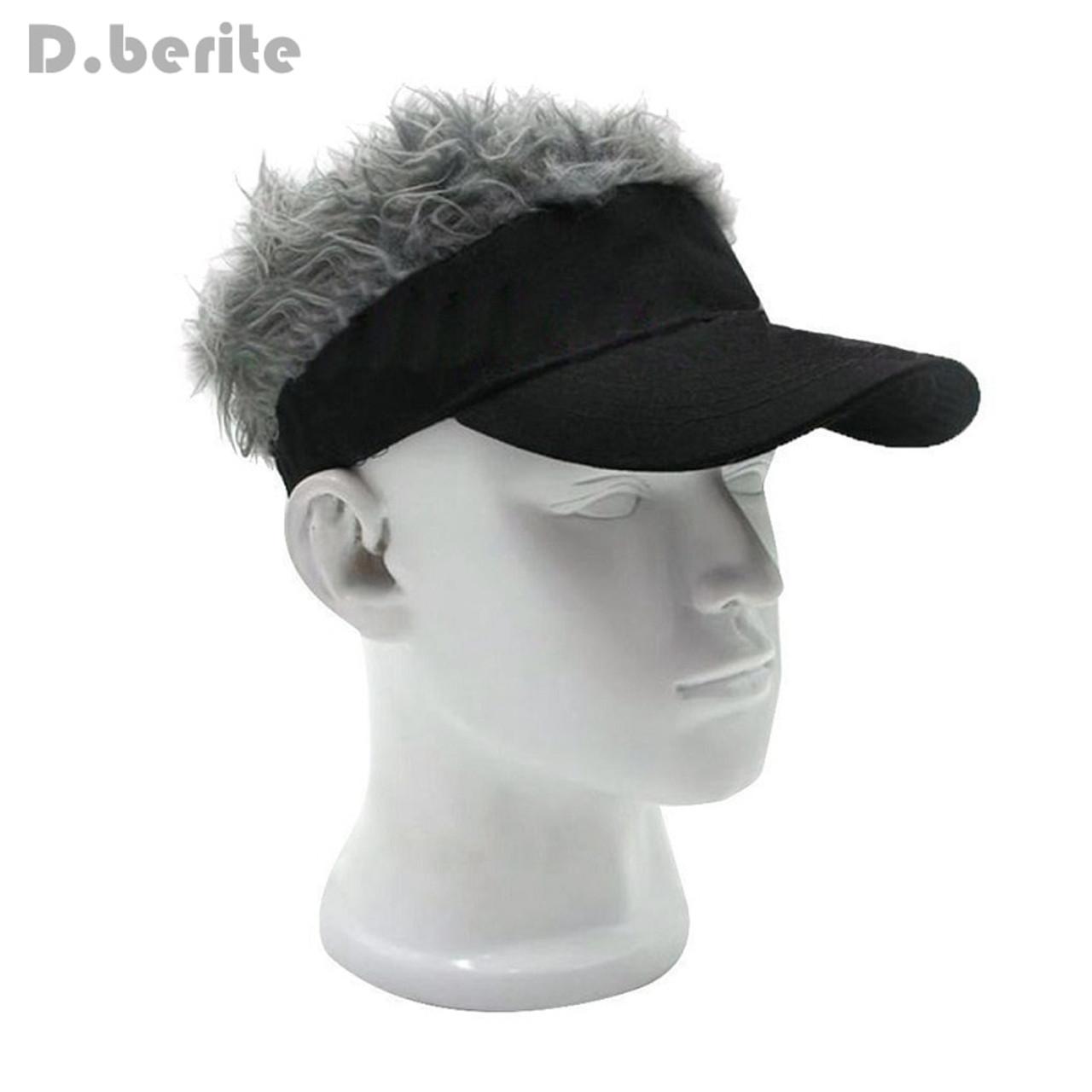 ... Funny Men Adjustable Wig Cap Unisex Flair Hair Visor Snapback Casquette  Hat Casual Golf Caps Outdoor ... 6977160f7f4