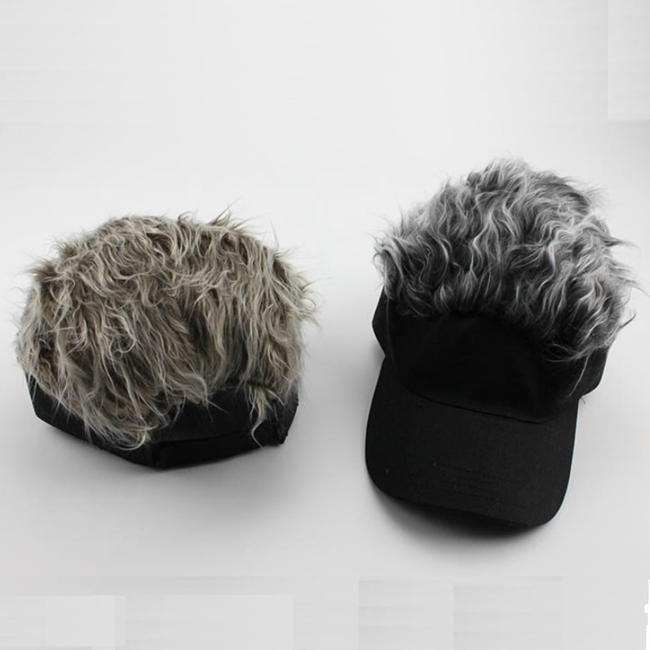 11fa995b7839e ... Funny Men Adjustable Wig Cap Unisex Flair Hair Visor Snapback Casquette  Hat Casual Golf Caps Outdoor ...