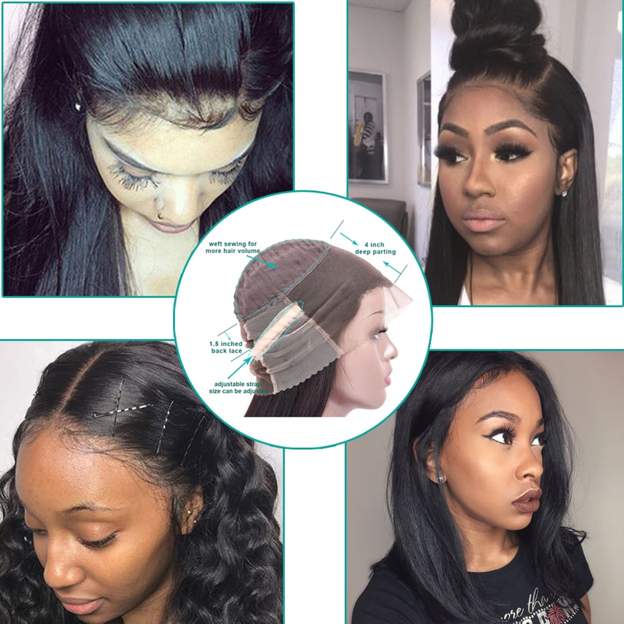 Hair Extensions & Wigs Human Hair Lace Wigs Short Bob Wig 13*4 Lace Front Wigs 150% Brazilian Remy Hair Straight Lace Front Human Hair Wigs For Black Women Cap Adjusted High Resilience