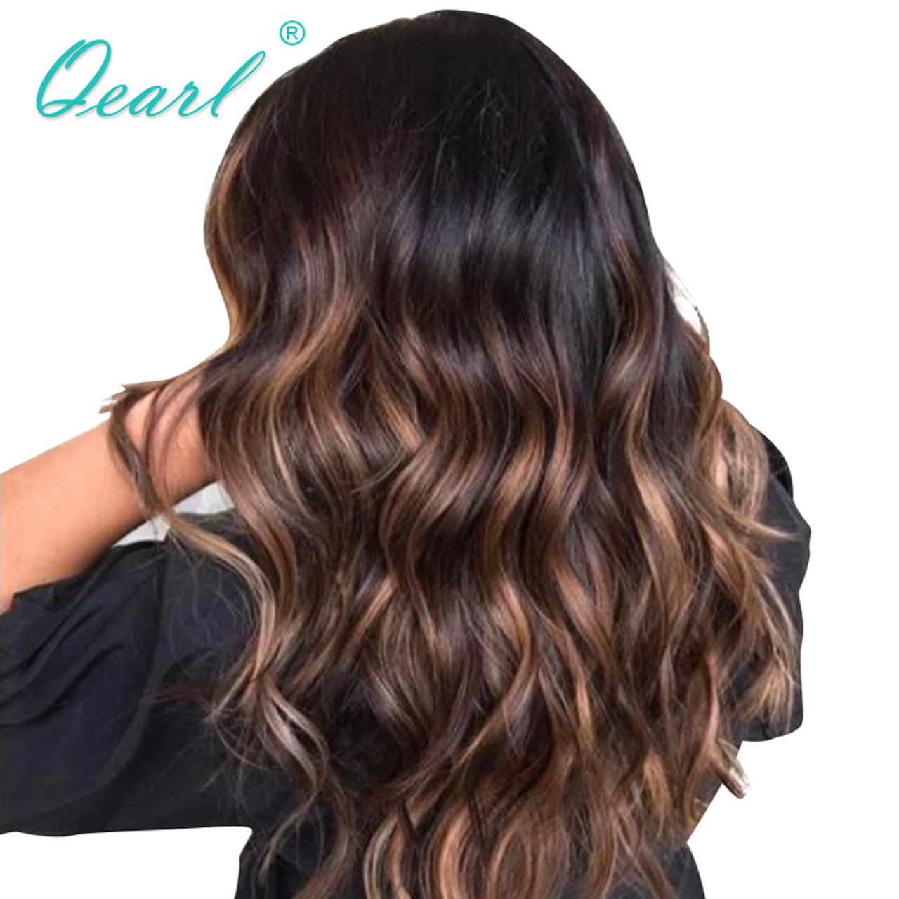 Qearl 1b3330 Glueless Lace Front Wig Blonde 150 Density Ombre