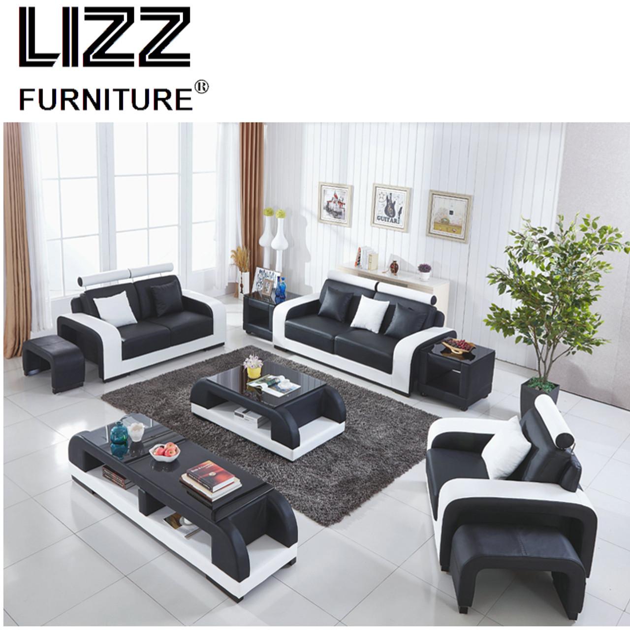 Adjustable headrest Italian leather seational sofa bean ...
