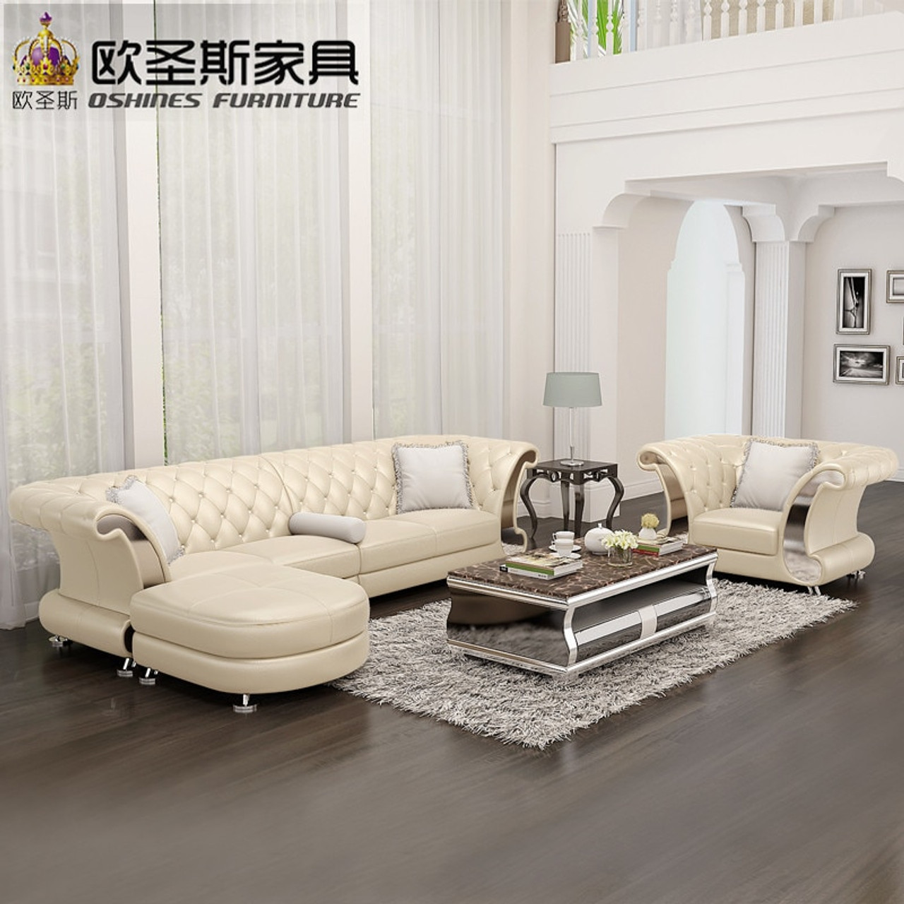 l shaped post modern italy genuine real leather sectional latest corner  furniture living room sofa set designs F20