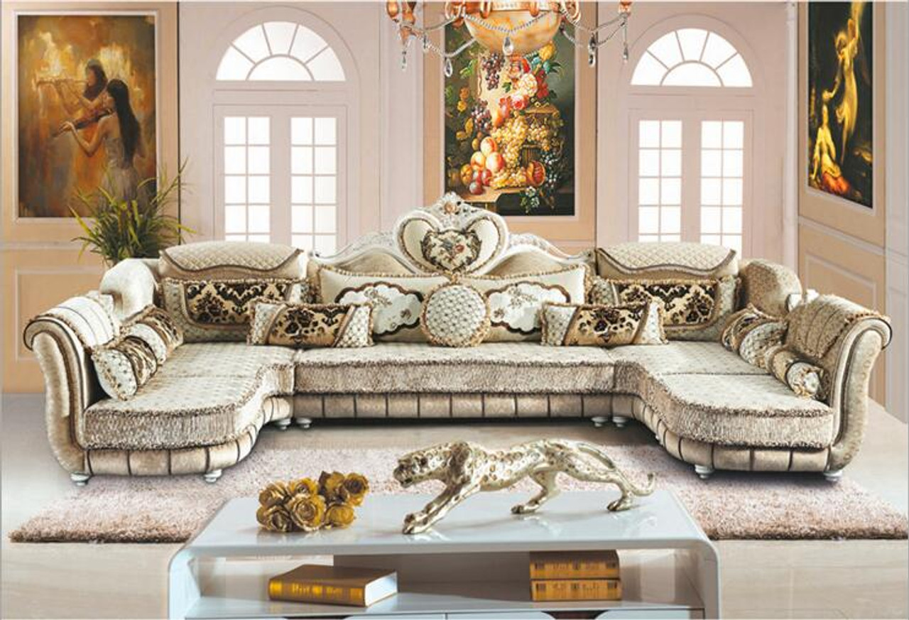 living room furniture modern fabric sofa European sectional sofa set a1259