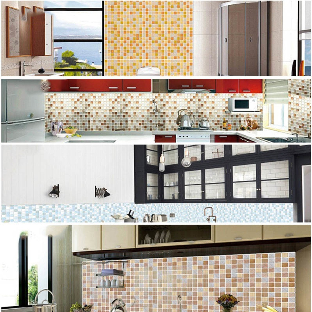 Home Decor 3d Wall Sticker Self Adhesive Tile Wall Sticker
