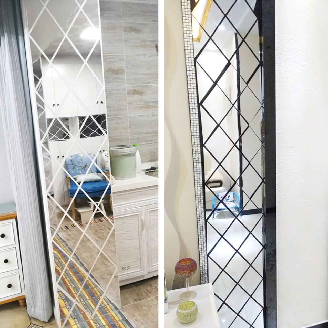 Diamond 3D Wall Art Acrylic Mirror Wall Sticker DIY Triangle Decals Art 3 Typ #