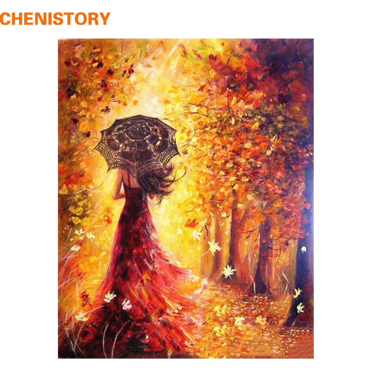 CHENISTORY Beautiful Women Autumn Landscape DIY Painting By Numbers Kits  Coloring Paint By Numbers Modern Wall Art Picture Gift - OnshopDeals.Com e496347d47