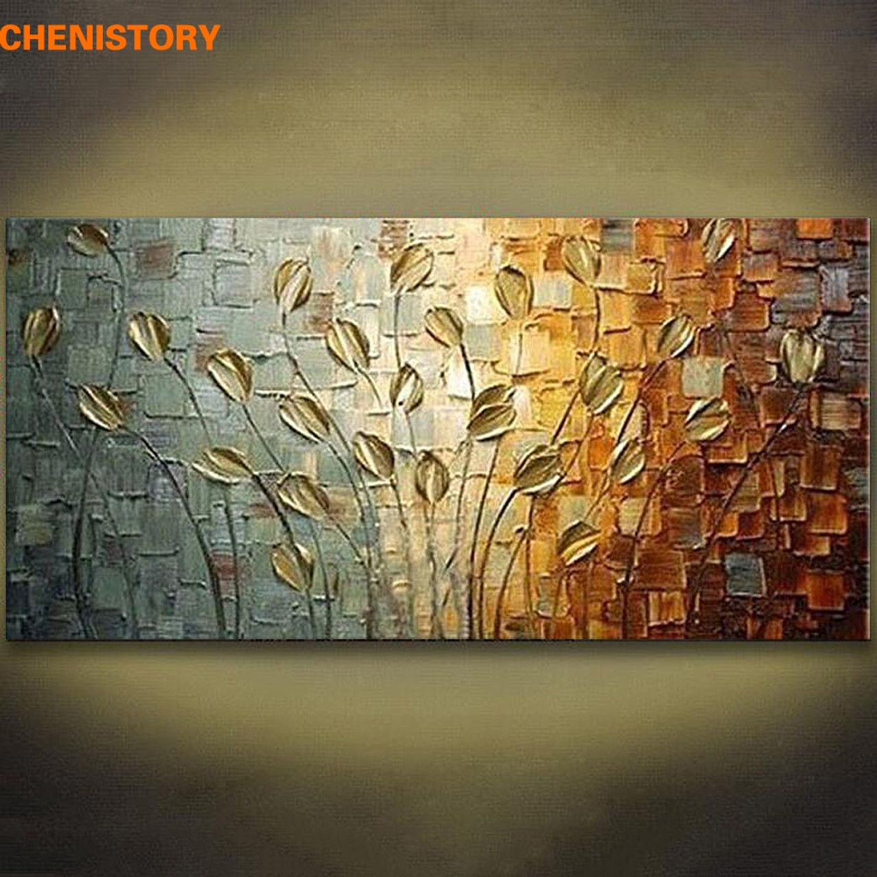Unframed Modern Flowers Art Oil Canvas Painting Pictures Print Home Wall