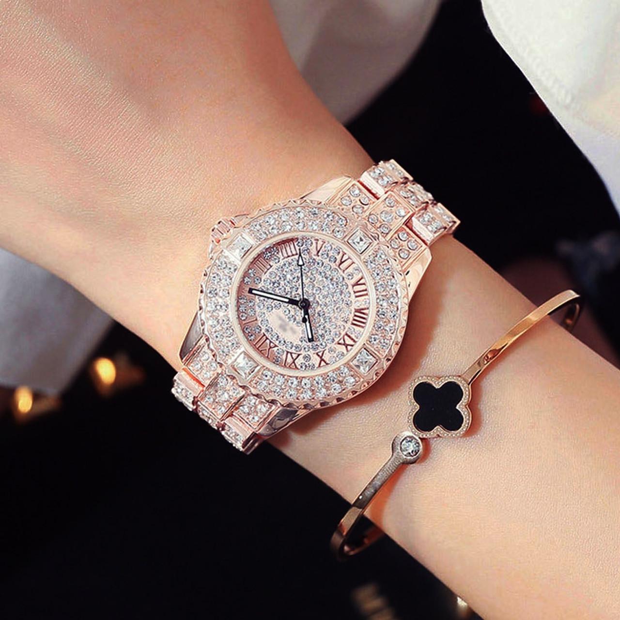 New Luxury Rhinestone Bracelet Watch Women Diamond Fashion Ladies Dress  Watch Brand Stainless Steel Crystal Wristwatch Clock - OnshopDeals.Com 9a5f0c233bad
