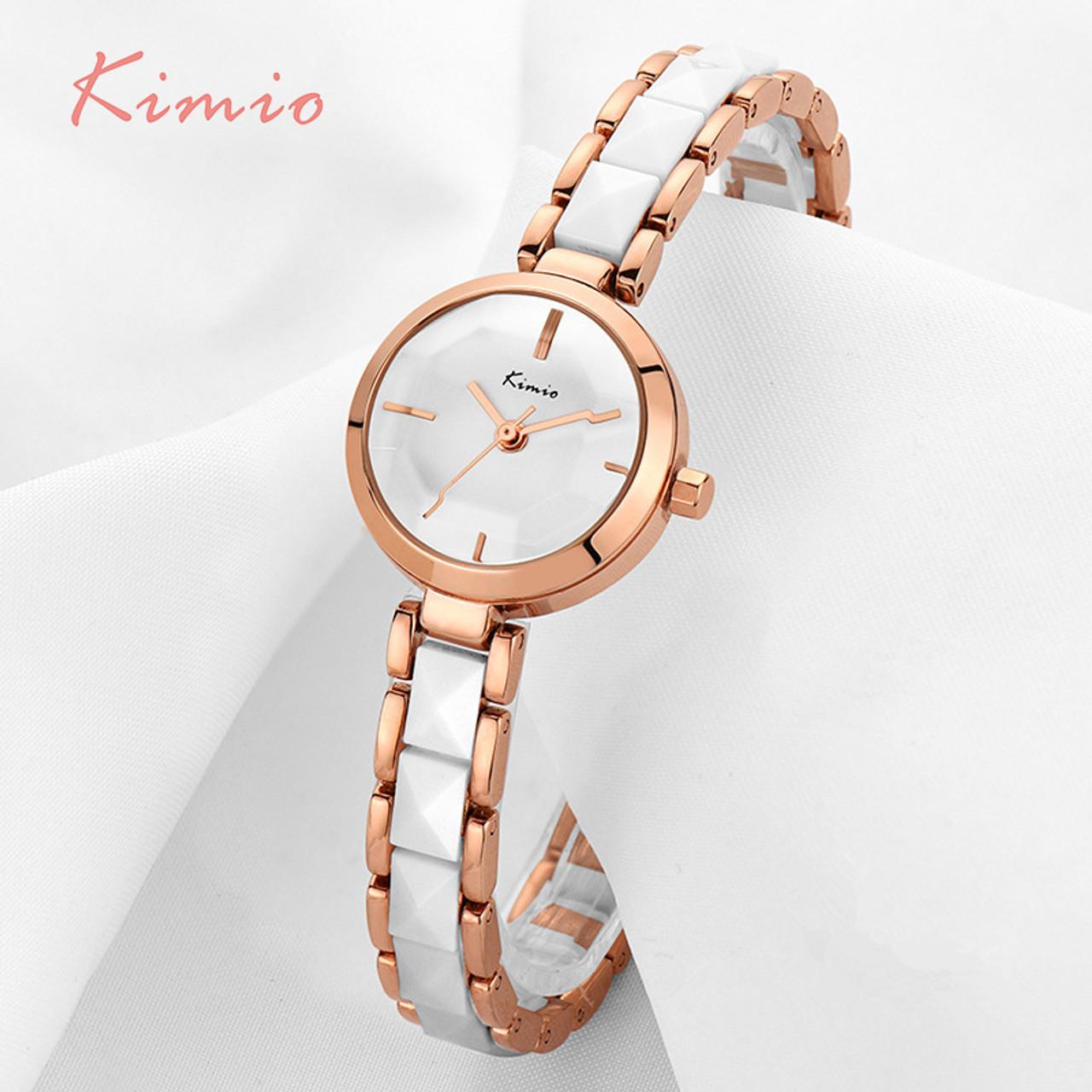 f2b1255df32 ... KIMIO Fashion Rose Gold Bracelet Watch Women Quartz Womens Watches Top  Brand Luxury Ladies-watch