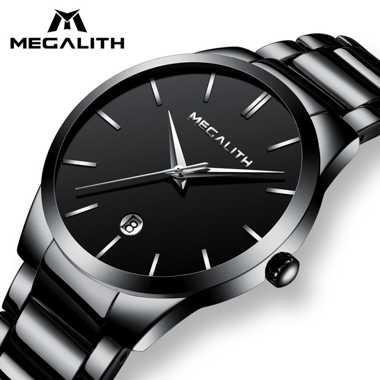 c3b2485966e4 MEGALITH Men Watch Waterproof Date Calendar Analogue Wristwatches Mens  Business Casual Quartz Watches For Man Clock ...