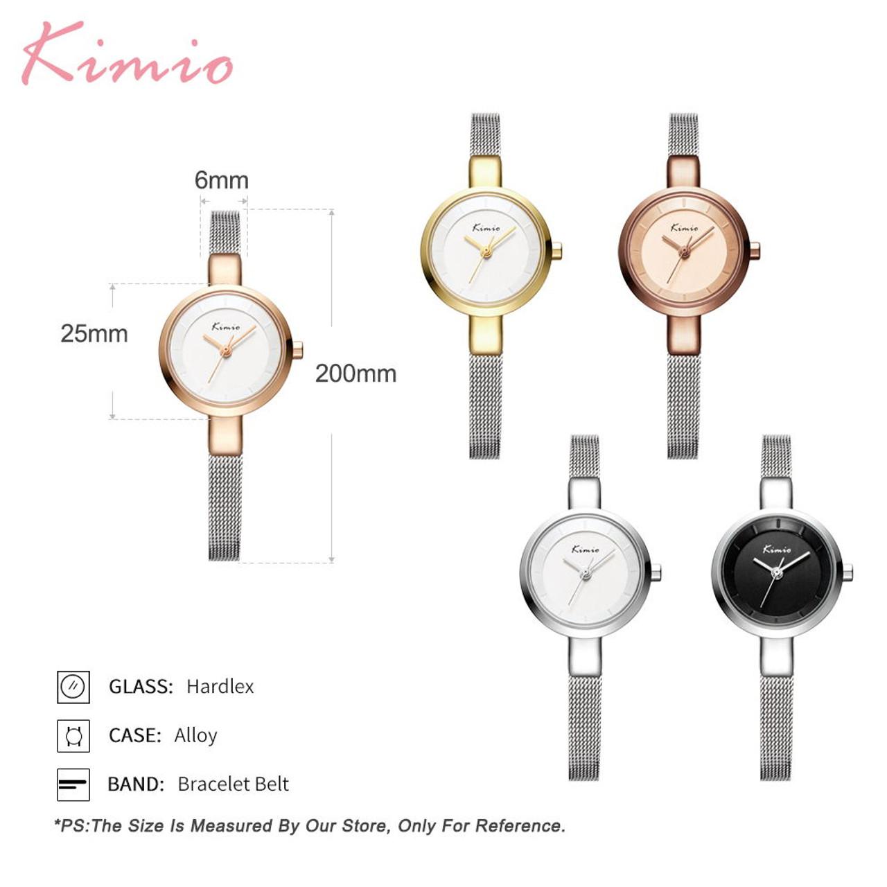 Luxury Brand Kimio Fashion Dress Women Watches Ladies Wristwatches Small  Dial Quartz Clock Waterproof Stainless Steel Bracelet