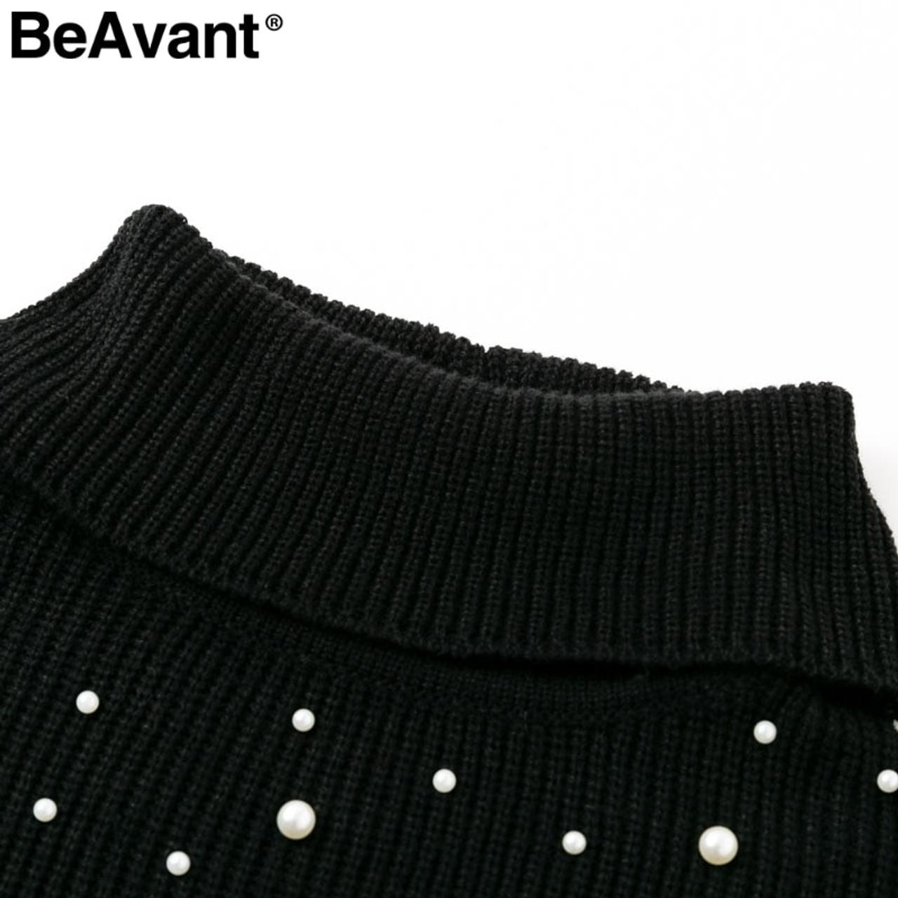 e6963ca8d Turtleneck Knit Sweater Oversize Jumper Sweater Dress in 2018