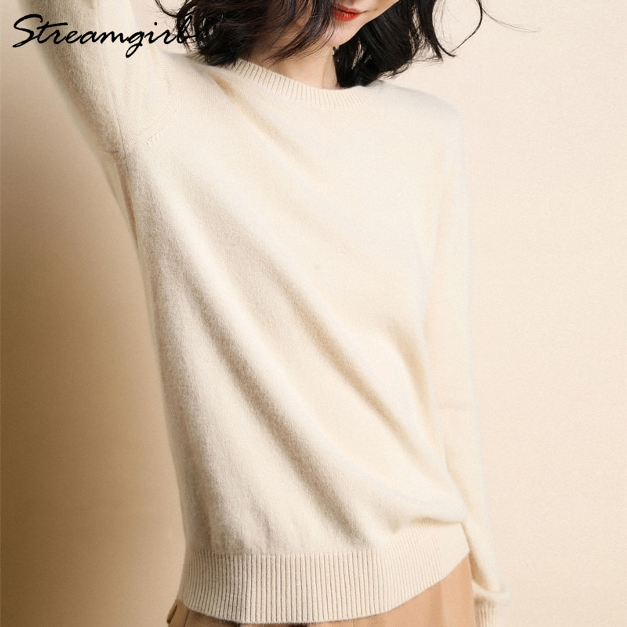 Cashmere Sweater Female Knitted Pullover Women Winter Sweaters Plus