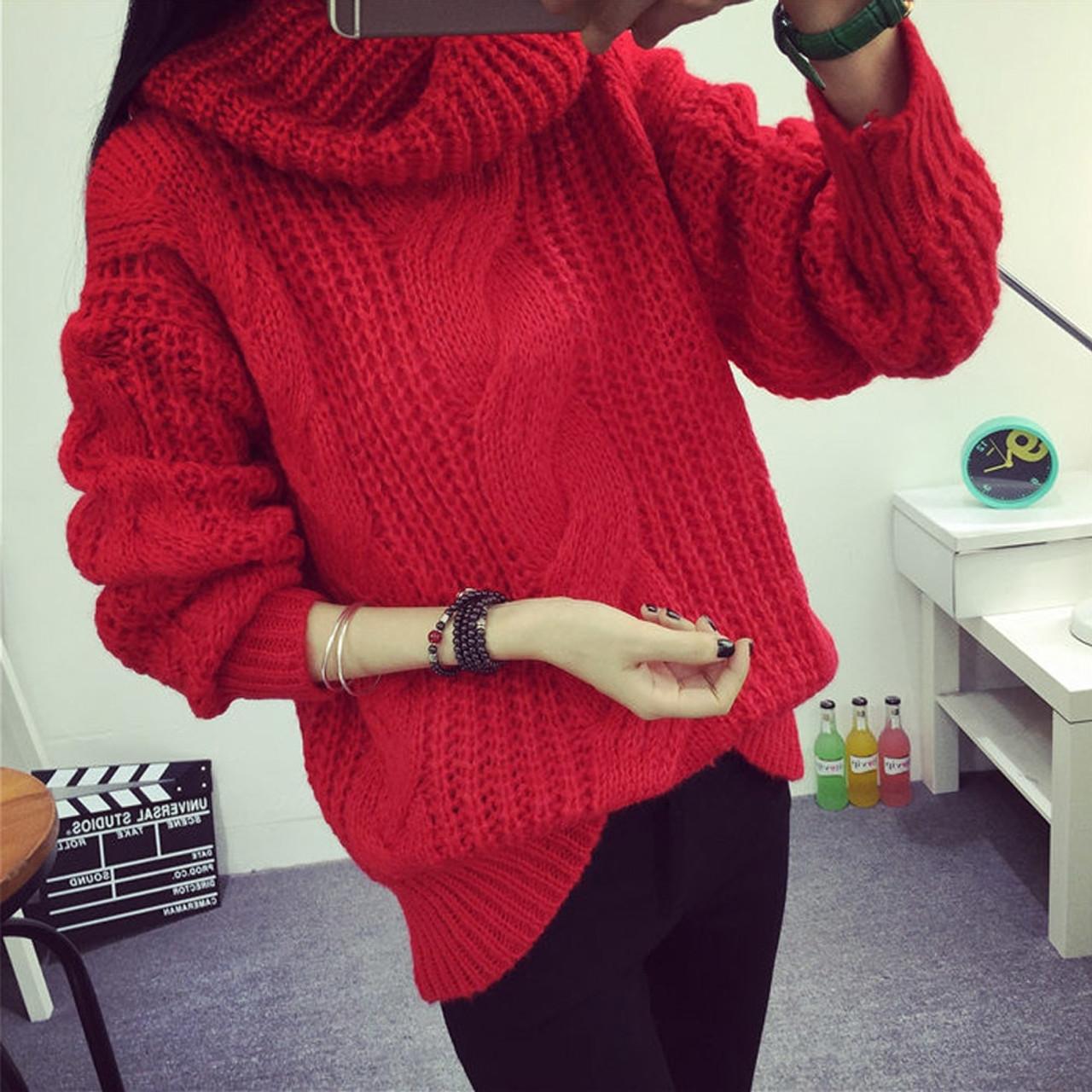 6edbf89dd957 In stock Women Winter Sweaters and Pullovers Turtleneck Sweater ...