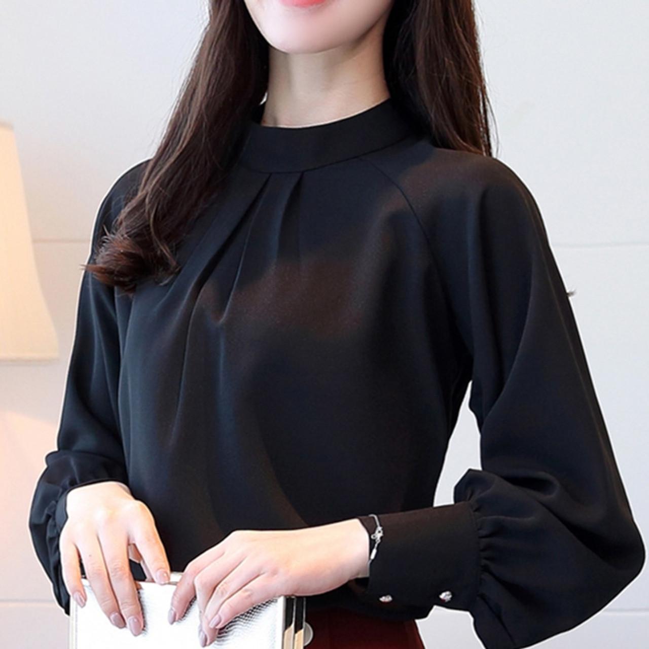 New Autumn 2018 Womens Tops and Blouses Long Sleeve Chiffon Blouse Mujer  Fashion Women Shirts Ladies Tops Shirt Camisa Feminina - OnshopDeals.Com