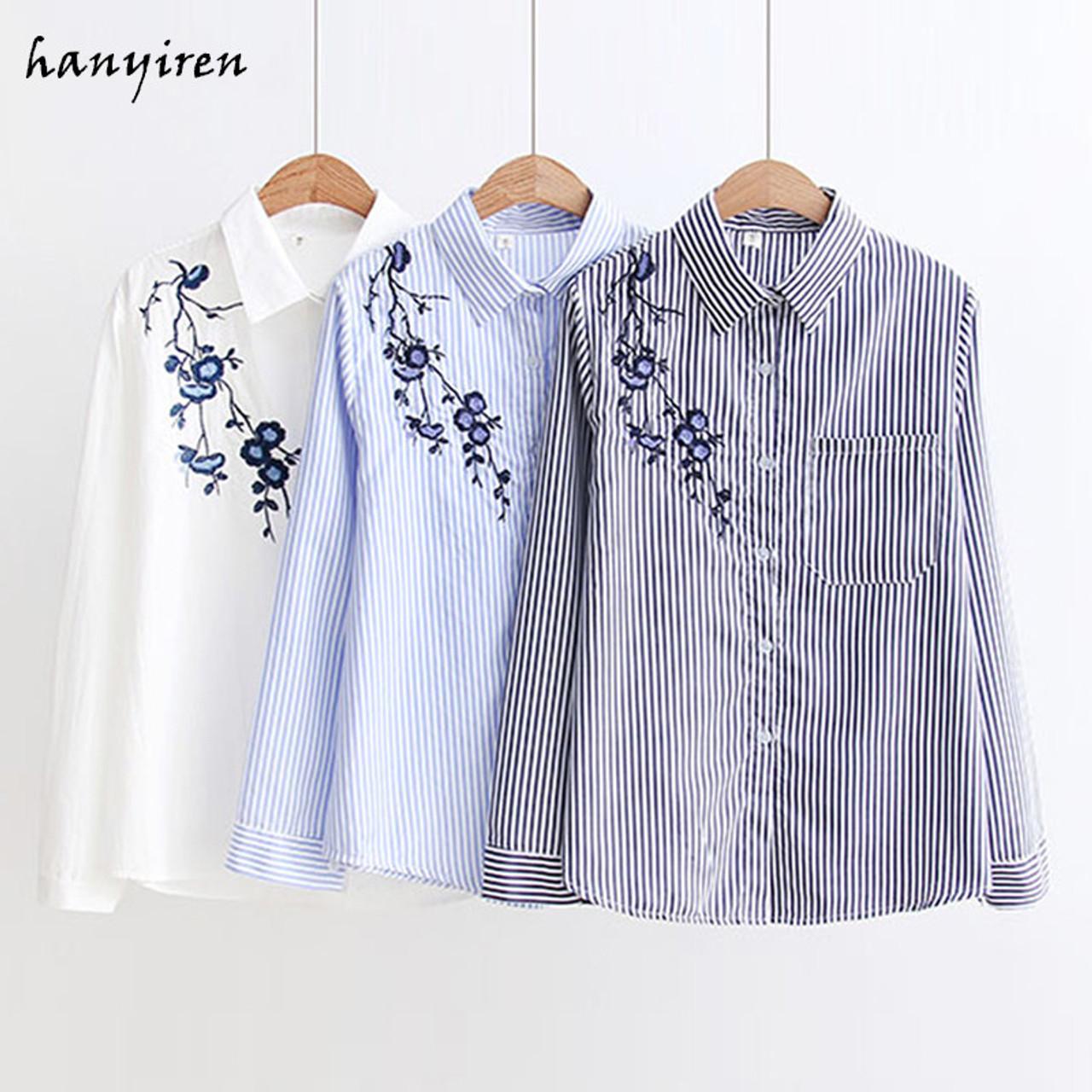 a5aaacadd00c4 Women Blouses Stripe Shirts 2018 Autumn New Women Casual Tops Long Sleeve  Loose Ladies Shirt Elegant ...