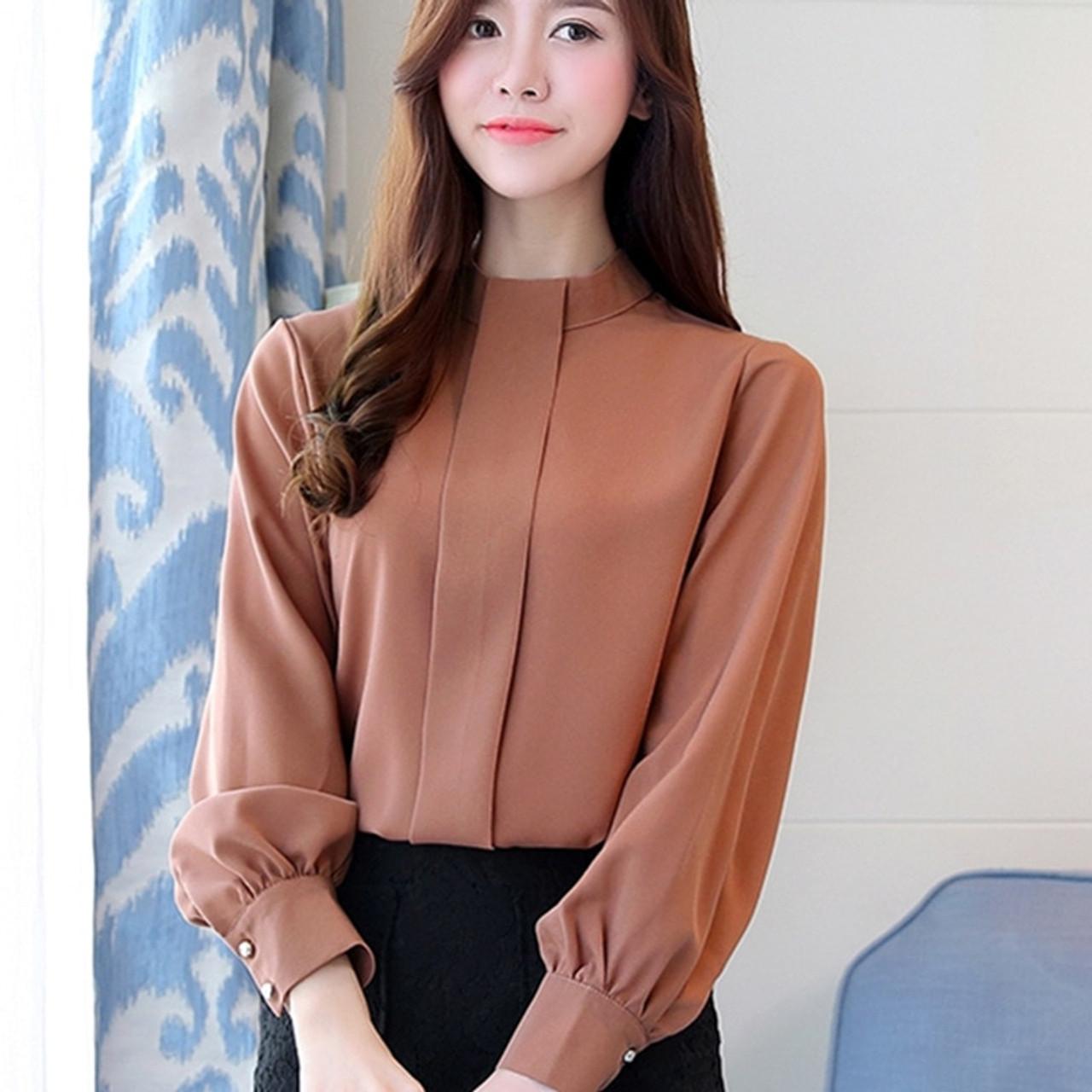 7a6793aafc4 ... New Autumn Women Blouse Long Sleeve Chiffon Blouse Mujer Fashion Ladies  Shirts Casual Blusa Feminino Tops ...